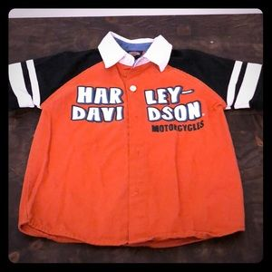 Harley Davidson Motorcycles baby button down 3T
